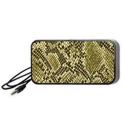 Yellow Snake Skin Pattern Portable Speaker (black)