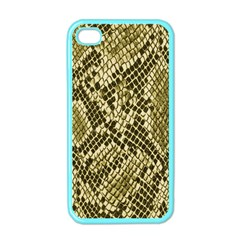 Yellow Snake Skin Pattern Apple Iphone 4 Case (color)