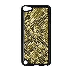 Yellow Snake Skin Pattern Apple Ipod Touch 5 Case (black) by BangZart
