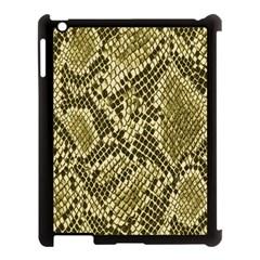 Yellow Snake Skin Pattern Apple Ipad 3/4 Case (black) by BangZart