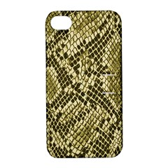 Yellow Snake Skin Pattern Apple Iphone 4/4s Hardshell Case With Stand by BangZart