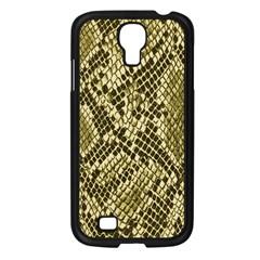 Yellow Snake Skin Pattern Samsung Galaxy S4 I9500/ I9505 Case (black) by BangZart