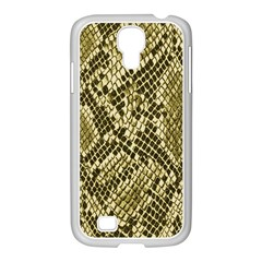 Yellow Snake Skin Pattern Samsung Galaxy S4 I9500/ I9505 Case (white) by BangZart