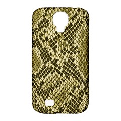 Yellow Snake Skin Pattern Samsung Galaxy S4 Classic Hardshell Case (pc+silicone)