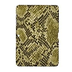 Yellow Snake Skin Pattern Samsung Galaxy Tab 2 (10 1 ) P5100 Hardshell Case  by BangZart