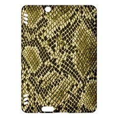 Yellow Snake Skin Pattern Kindle Fire Hdx Hardshell Case by BangZart