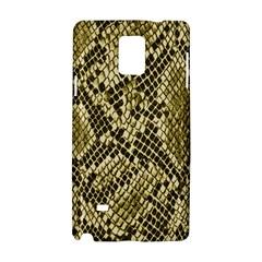 Yellow Snake Skin Pattern Samsung Galaxy Note 4 Hardshell Case