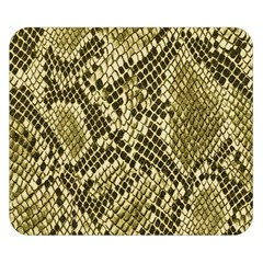 Yellow Snake Skin Pattern Double Sided Flano Blanket (small)  by BangZart