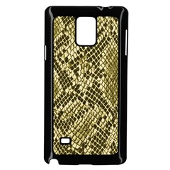 Yellow Snake Skin Pattern Samsung Galaxy Note 4 Case (black)