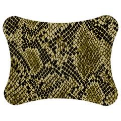 Yellow Snake Skin Pattern Jigsaw Puzzle Photo Stand (bow)