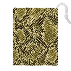 Yellow Snake Skin Pattern Drawstring Pouches (xxl)