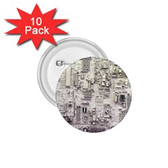 White Technology Circuit Board Electronic Computer 1 75  Buttons (10 Pack)
