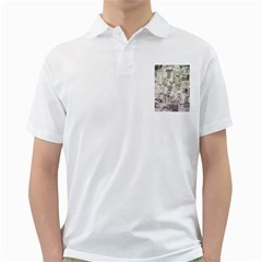 White Technology Circuit Board Electronic Computer Golf Shirts