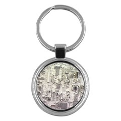 White Technology Circuit Board Electronic Computer Key Chains (round)  by BangZart
