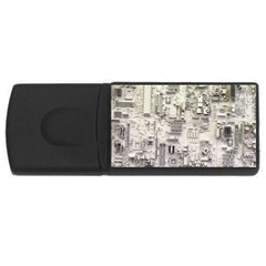White Technology Circuit Board Electronic Computer Rectangular Usb Flash Drive by BangZart