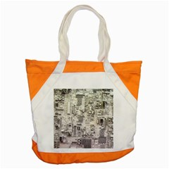 White Technology Circuit Board Electronic Computer Accent Tote Bag by BangZart