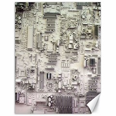 White Technology Circuit Board Electronic Computer Canvas 18  X 24