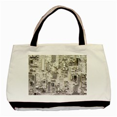 White Technology Circuit Board Electronic Computer Basic Tote Bag (two Sides) by BangZart