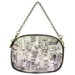 White Technology Circuit Board Electronic Computer Chain Purses (one Side)  by BangZart