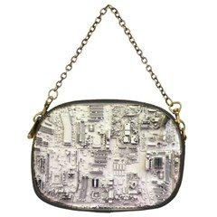 White Technology Circuit Board Electronic Computer Chain Purses (two Sides)  by BangZart