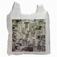 White Technology Circuit Board Electronic Computer Recycle Bag (one Side)