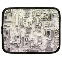 White Technology Circuit Board Electronic Computer Netbook Case (xl)