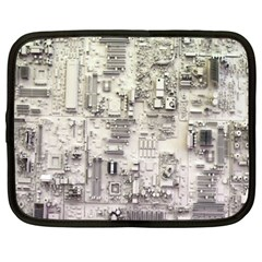 White Technology Circuit Board Electronic Computer Netbook Case (xxl)