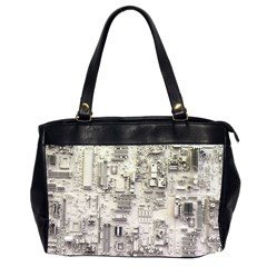 White Technology Circuit Board Electronic Computer Office Handbags (2 Sides)