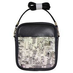 White Technology Circuit Board Electronic Computer Girls Sling Bags by BangZart