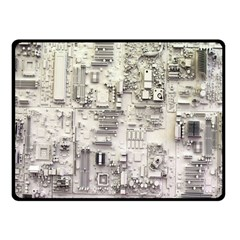 White Technology Circuit Board Electronic Computer Fleece Blanket (small)