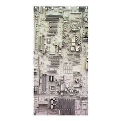White Technology Circuit Board Electronic Computer Shower Curtain 36  X 72  (stall)  by BangZart