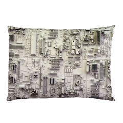 White Technology Circuit Board Electronic Computer Pillow Case (two Sides) by BangZart