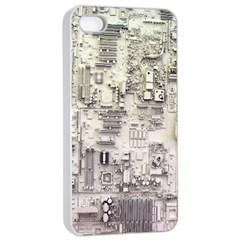 White Technology Circuit Board Electronic Computer Apple Iphone 4/4s Seamless Case (white) by BangZart