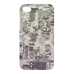 White Technology Circuit Board Electronic Computer Apple Iphone 4/4s Premium Hardshell Case by BangZart