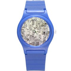 White Technology Circuit Board Electronic Computer Round Plastic Sport Watch (s) by BangZart