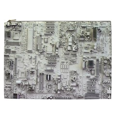 White Technology Circuit Board Electronic Computer Cosmetic Bag (xxl)  by BangZart