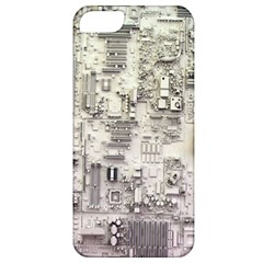 White Technology Circuit Board Electronic Computer Apple Iphone 5 Classic Hardshell Case by BangZart