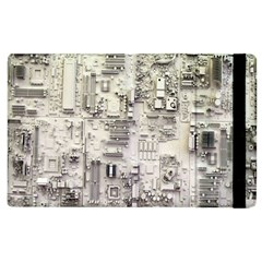 White Technology Circuit Board Electronic Computer Apple Ipad 3/4 Flip Case