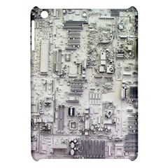 White Technology Circuit Board Electronic Computer Apple Ipad Mini Hardshell Case by BangZart