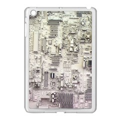 White Technology Circuit Board Electronic Computer Apple Ipad Mini Case (white)