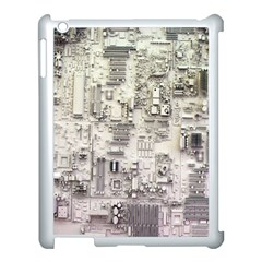 White Technology Circuit Board Electronic Computer Apple Ipad 3/4 Case (white)