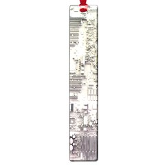 White Technology Circuit Board Electronic Computer Large Book Marks by BangZart