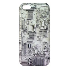 White Technology Circuit Board Electronic Computer Apple Iphone 5 Premium Hardshell Case by BangZart