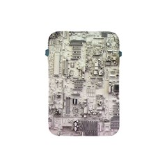 White Technology Circuit Board Electronic Computer Apple Ipad Mini Protective Soft Cases by BangZart