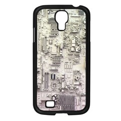 White Technology Circuit Board Electronic Computer Samsung Galaxy S4 I9500/ I9505 Case (black)