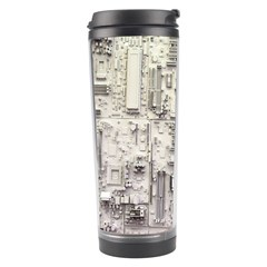 White Technology Circuit Board Electronic Computer Travel Tumbler by BangZart