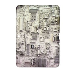 White Technology Circuit Board Electronic Computer Samsung Galaxy Tab 2 (10 1 ) P5100 Hardshell Case