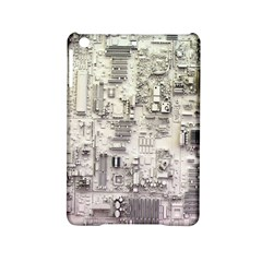 White Technology Circuit Board Electronic Computer Ipad Mini 2 Hardshell Cases