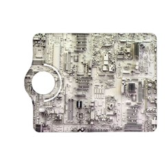 White Technology Circuit Board Electronic Computer Kindle Fire Hd (2013) Flip 360 Case by BangZart