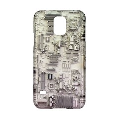 White Technology Circuit Board Electronic Computer Samsung Galaxy S5 Hardshell Case  by BangZart